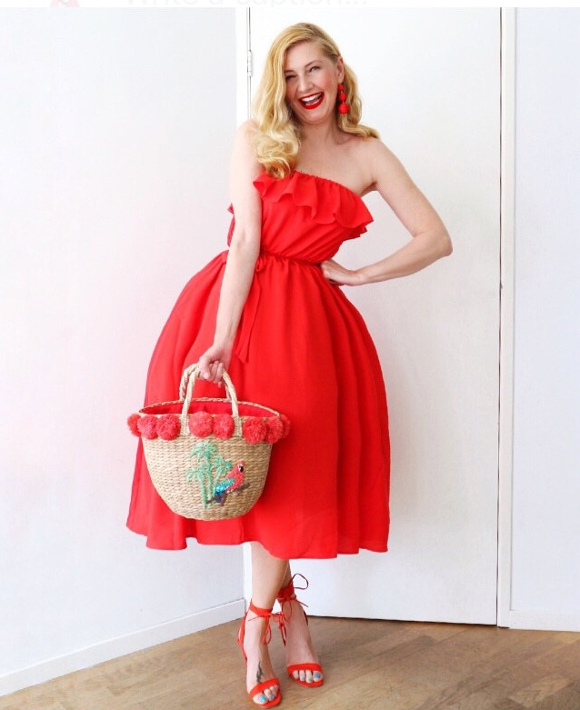 Na-kd red dress
